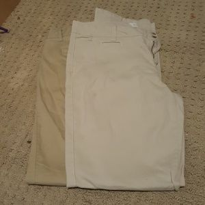 Two Pairs of Aeropostale Skinny Twill Pants